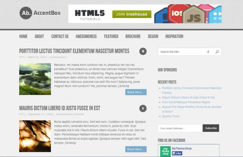 free wordpress themes accentbox