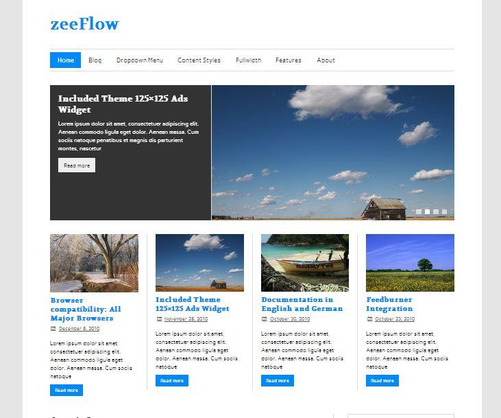Free wordpress theme ZeeFlow