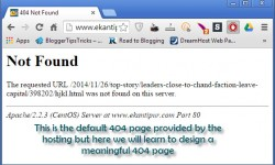 design a SEO Optimized Custom 404 not found error page